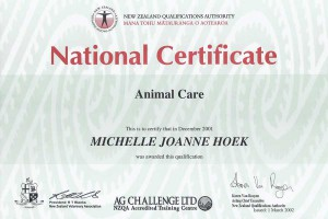 Animal Care Qualification